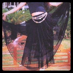 selling a beautiful black skirt like the singer